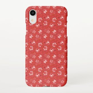 Rose pattern in red iPhone case