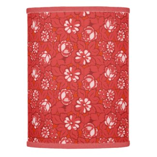 Rose pattern in red lamp shade