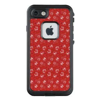 Rose pattern in red LifeProof iPhone case