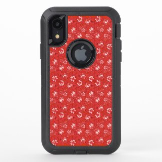 Rose pattern in red OtterBox iPhone case