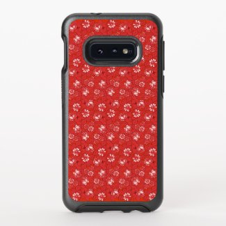 Rose pattern in red OtterBox samsung galaxy case