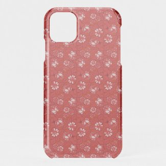 Rose pattern in red iPhone 11 case