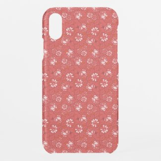 Rose pattern in red uncommon iPhone case