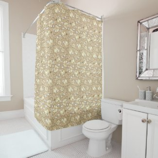 Rose pattern... in Sepia Shower Curtain