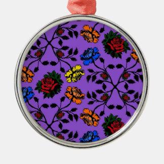 rose pattern no.5 metal ornament