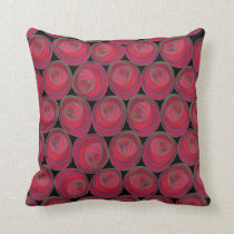 Rose Pattern Pillow in the Art Nouveau Style