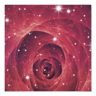 Rose Patterned Cosmos Card