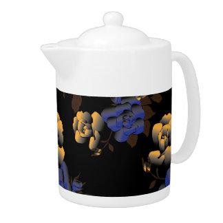 Rose patterns teapot