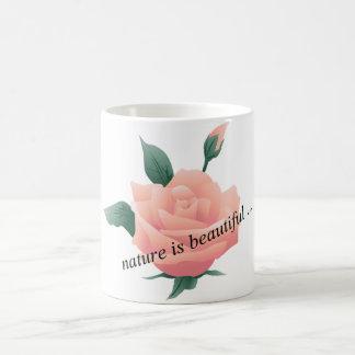 Rose (Peach) - Beautiful nature Classic White Coffee Mug