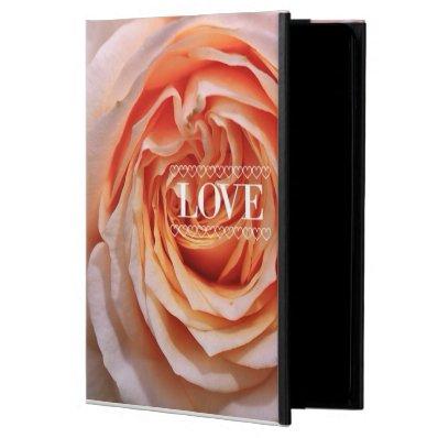 Rose peach, Love  I  Powis iPad Air 2 Case
