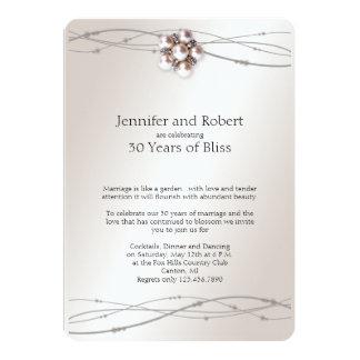 Rose Pearl 30th Wedding Anniversary Invitation