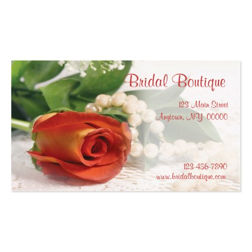 Rose Pearls Business Card