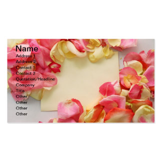 Rose Pedals Business Card Templates