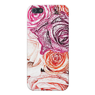 Rose Pencil Drawing - Girly iPhone Cases iPhone 5 Cases