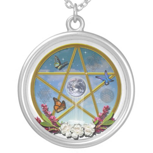 Rose Pentacle Necklace