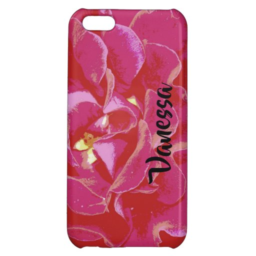 ROSE PERSONALIZED iPhone 5C CASE GLOSSY FINISH