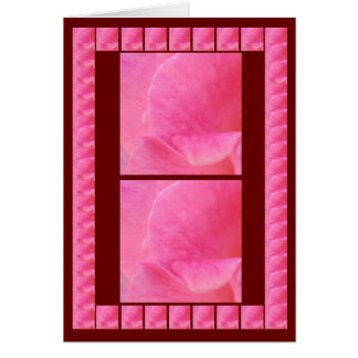 Rose Petal Artistic Presentation - add your text Greeting Card