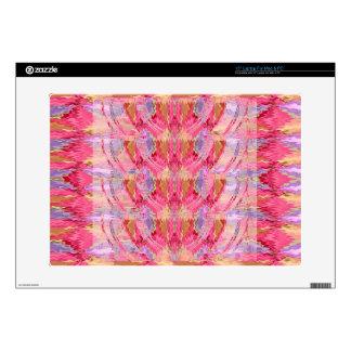 "Rose Petal Color Diamond Pattern 15"" Laptop Decals"