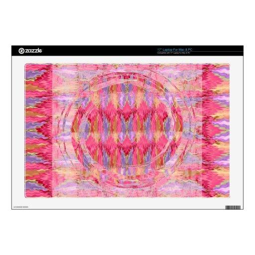 "Rose Petal Color Diamond Pattern 17"" Laptop Skin"