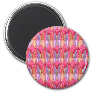Rose Petal Color Diamond Pattern 2 Inch Round Magnet