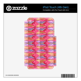 Rose Petal Color Diamond Pattern Skins For iPod Touch 4G