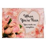 Rose Petal Heart - Inside Verse Card