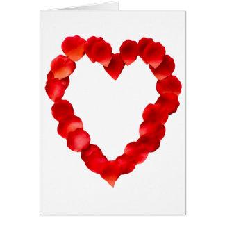 Rose Petal Heart Shape Card