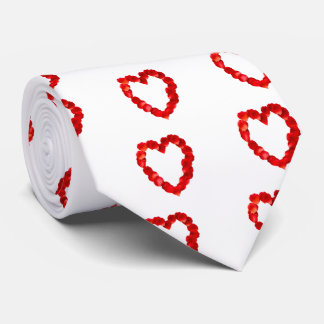 Rose Petal Heart Shape Neck Tie