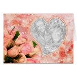 Rose Petal Heart - Template - Blank Inside Card