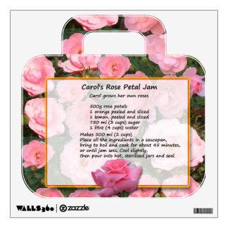 Rose Petal Jam Wall Decal