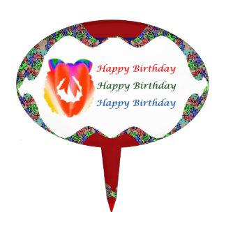Rose Petal Pearl  HappyBirthday Birthday  Lips Cake Topper