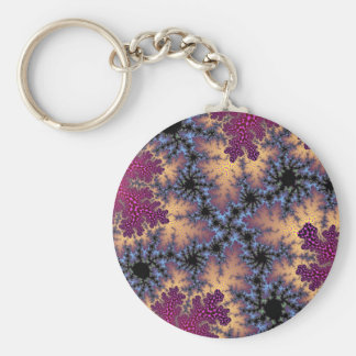 Rose Petal Speckle Basic Button Keychain