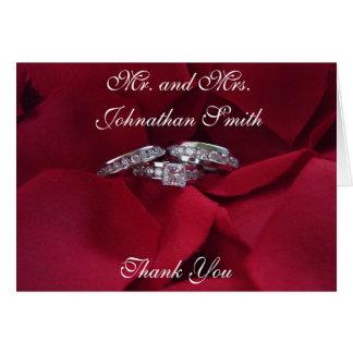 Rose Petal Thank You Card