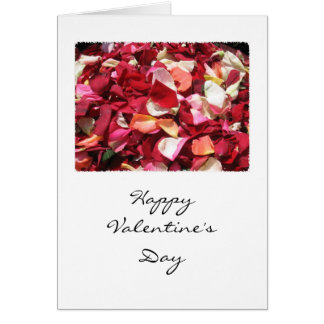 Rose Petal Valentine Card