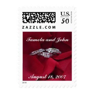 Rose Petal Wedding Bands Postage