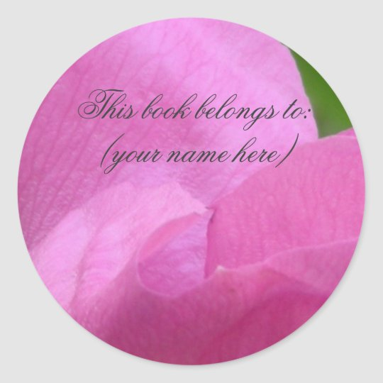Rose petals classic round sticker
