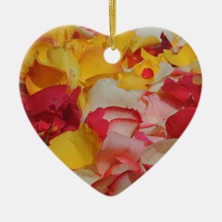 Rose Petals in Cuenca Ceramic Ornament