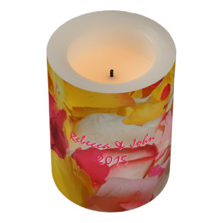 Rose Petals in Cuenca Flameless Candle