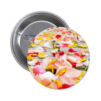 Rose Petals on Floor design Pinback Button