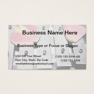 Rose Petals on Metal Bells Faded style Business Card