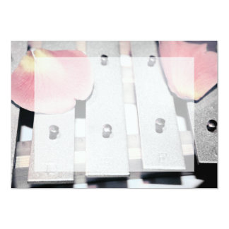 Rose Petals on Metal Bells Faded style Personalized Announcements