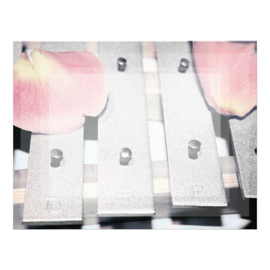 Rose Petals on Metal Bells Faded style Letterhead