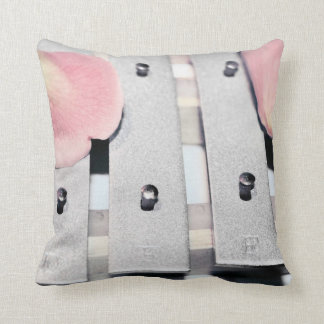 Rose Petals on Metal Bells Faded style Throw Pillow