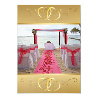 Rose Petals On The Red Carpet Invitation3 Card