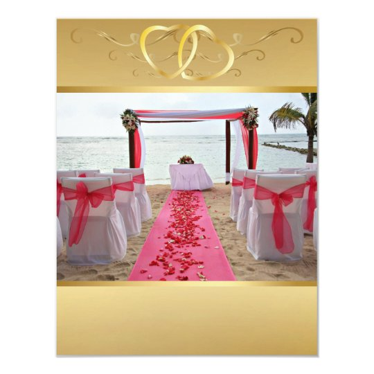 Rose Petals On The Red Carpet Invitation5 Invitation Zazzle Com