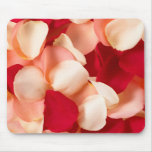 rose petals pink and red mouse pads