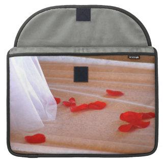 Rose Petals Wedding Dress Train tan background Sleeve For MacBooks