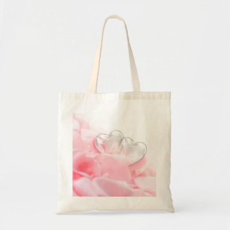 Rose Petals with Glass Hearts - Bag