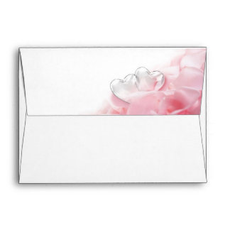 Rose Petals with Glass Hearts - Envelope A7