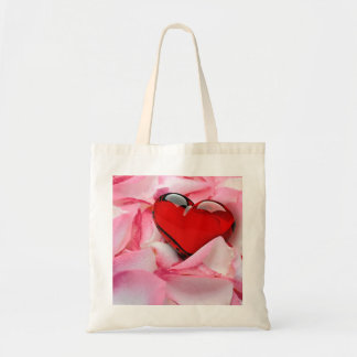 Rose Petals with Heart - Budget Tote